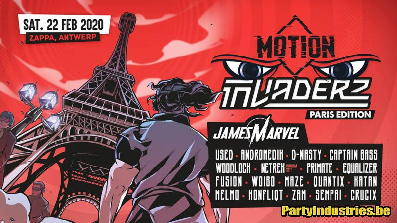 Flyer van Invaderz x Motion - Paris Edition