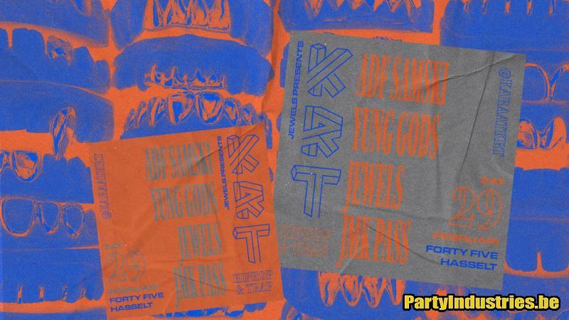 Flyer van Karaat w/ ADF Samski, Yung Gods