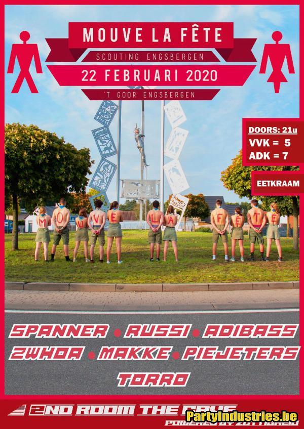 Flyer van Mouve La Fête 2020