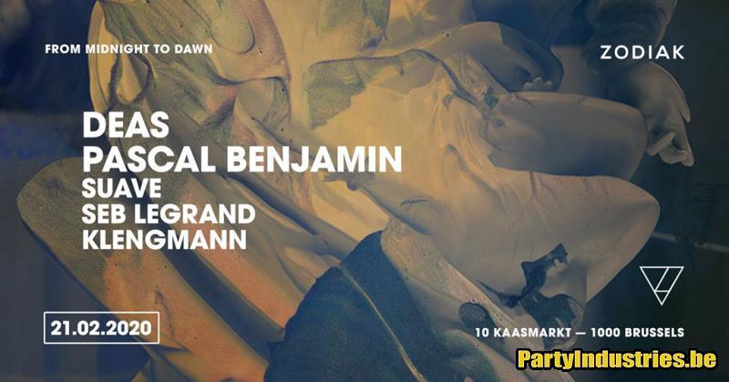 Flyer van ZODIAK hosts Deas & Pascal Benjamin