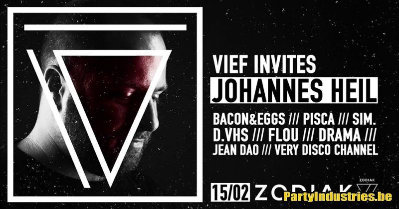 Flyer van VIEF invites Johannes Heil!