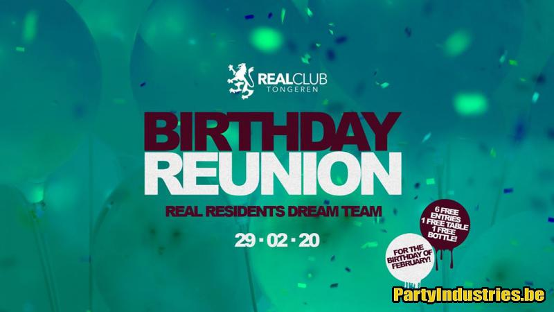 Flyer van Birthday February / Real club / Sat 29 Feb