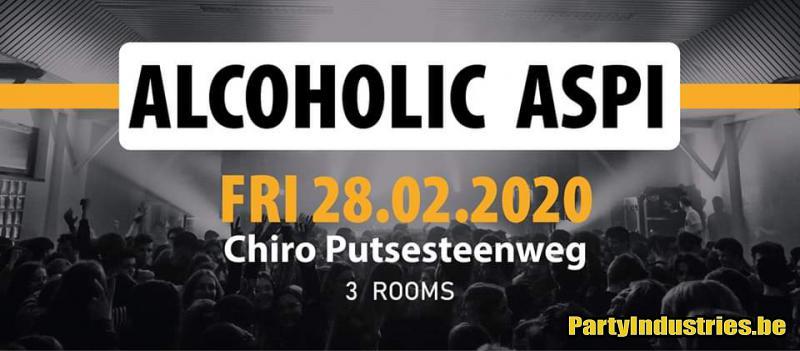 Flyer van Alcoholic Aspi 2020 // Fri 28/2