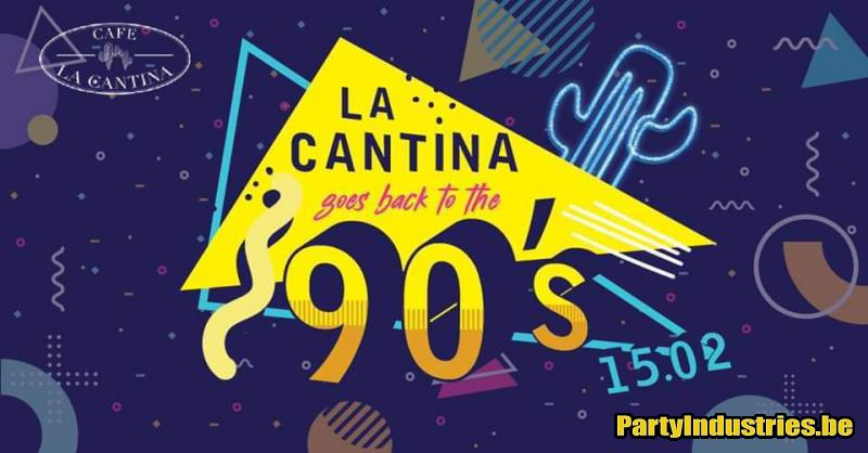 Flyer van La Cantina goes back to the 90's!