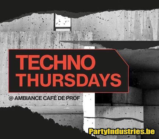 Flyer van Techno thursdays invites Tumzz