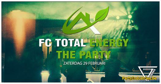 Flyer van FC Total Energy - the PARTY