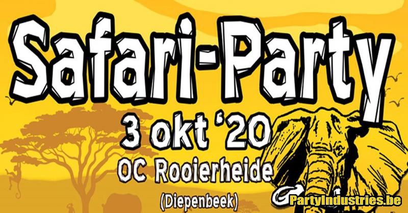 Flyer van Safari-Party 2020