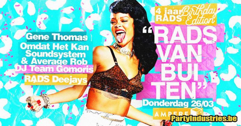 Flyer van ♡ 4 jaar RADS Vanbuiten ♡ w/ Gene Thomas
