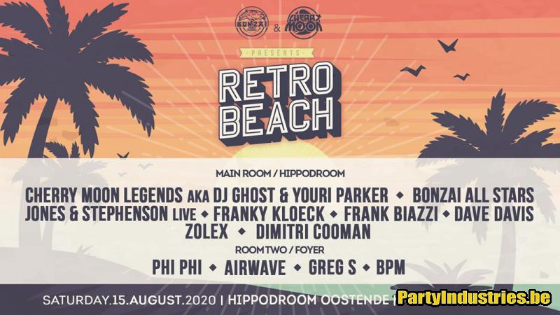 Flyer van Retro Beach 2020