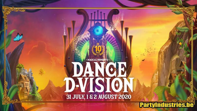 Flyer van Dance D-Vision 2020 • 10 Year Anniversary • Magical Moments