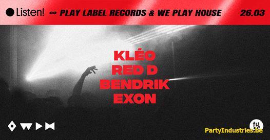 Flyer van ● Wph X Play Label Records   KlÉo ∞ Fuse