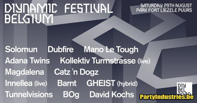 Flyer van Diynamic Festival Belgium 2020