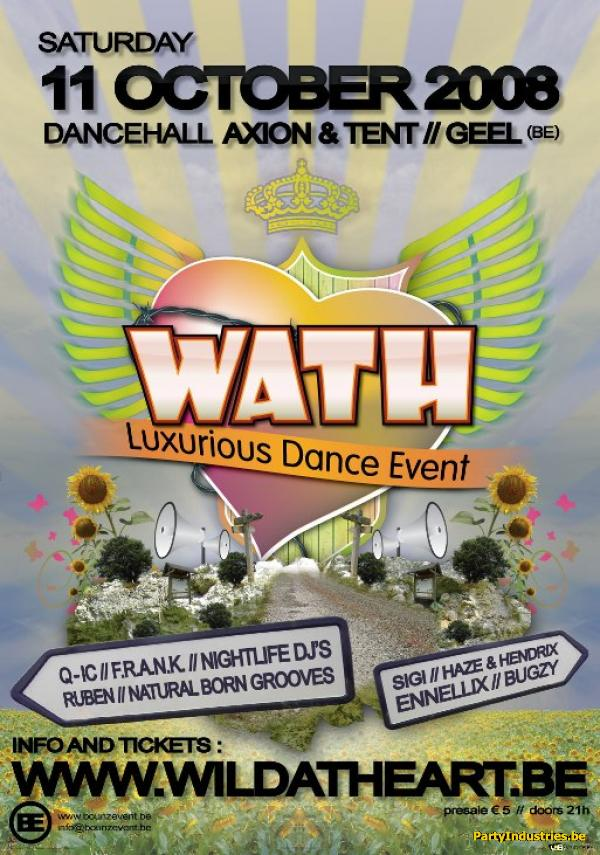 Flyer van WATH Luxurious Dance Event