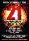 Flyer van 21 Anniversary - Hard edition