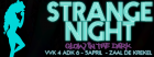 Flyer van Strange Night - Glow in the dark