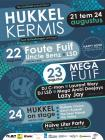 Flyer van HukkelKermis - Hukkel On Stage (13h) + Halve Liter Party (19h)