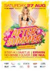 Flyer van Aftersummer 2016