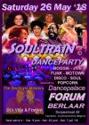 Flyer van SOULTRAIN PARTY