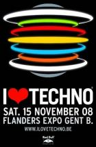 Flyer van I Love Techno 2008