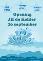 Flyer van Opening JH De Kelder