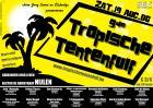 Flyer van 9de Tropische Tentenfuif