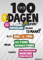 Flyer van 100 Dagen Vorselaar