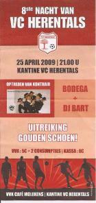 Flyer van 8e nacht van VC Herentals