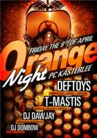 Flyer van Orange Night