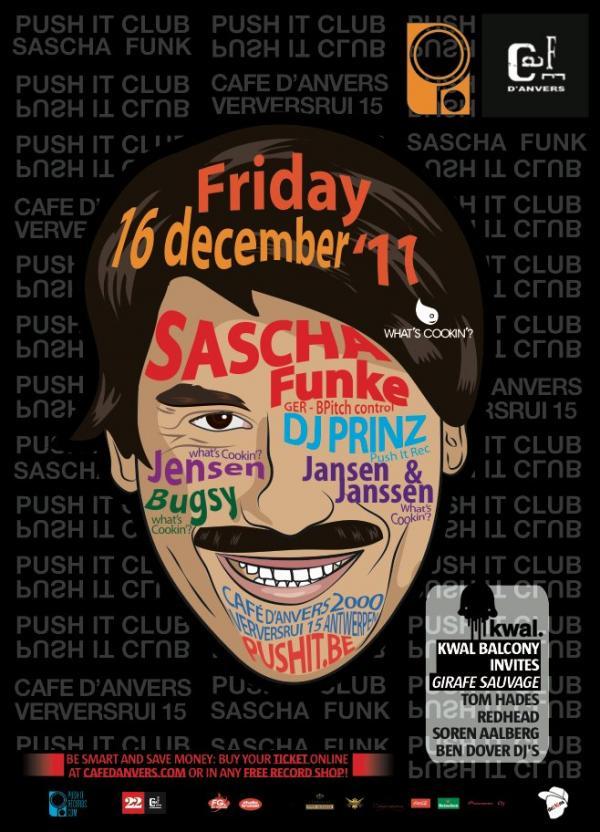 Nieuws afbeelding: PUSH IT club - invites Sascha Funke & Whats Cookin?