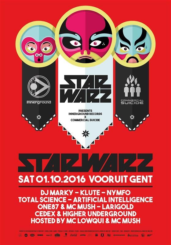 Nieuws afbeelding: Star Warz presenteert Innerground Records vs Commercial Suicide