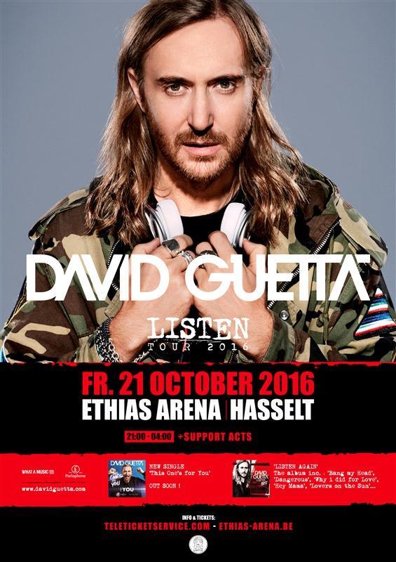 Nieuws afbeelding: David Guetta Listen 2016 Tour