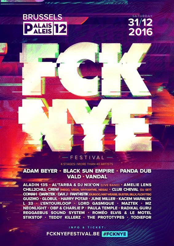 Nieuws afbeelding: FCK NYE Festival op Oudejaar in Paleis 12!