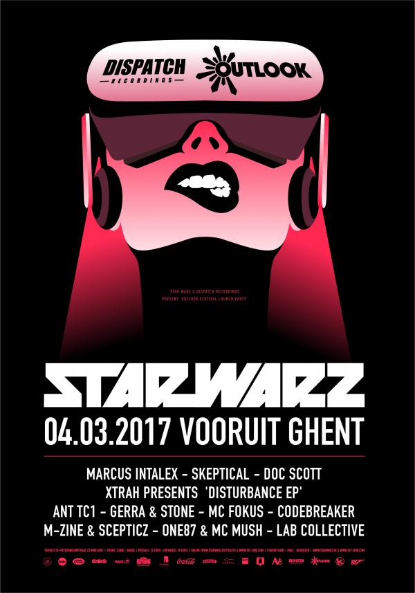 Nieuws afbeelding: Star Warz & Dispatch Recordings present 'Outlook Festival Launch Party'