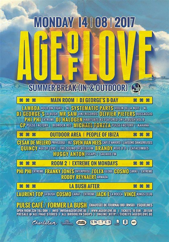 Nieuws afbeelding: Age of Love Summer Break @ former La Bush
