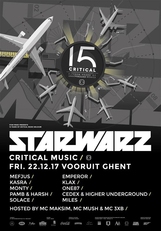 Nieuws afbeelding: Star Warz presents '15 Years of Critical Music' Belgium