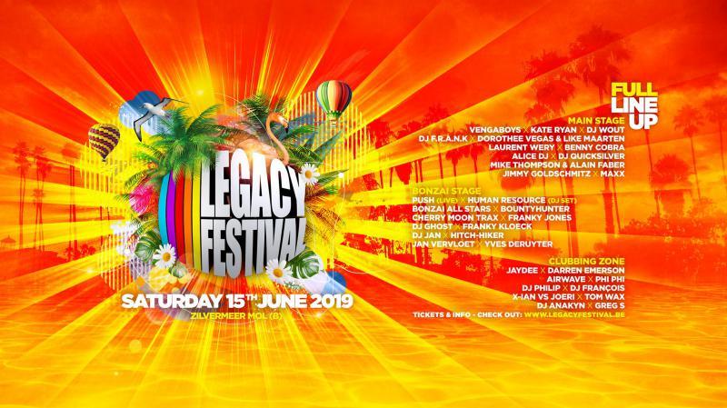 Nieuws afbeelding: 6de editie van Legacy Festival verwelkomt ronkende namen