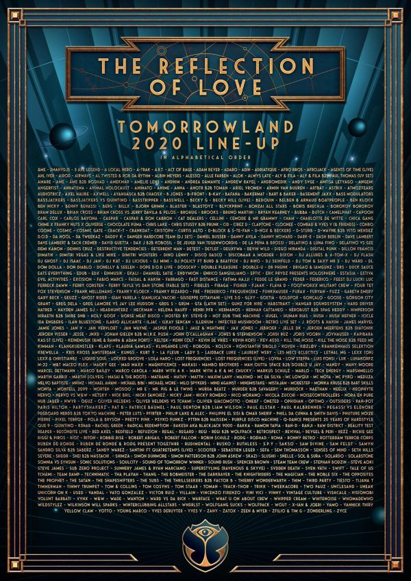 Nieuws afbeelding: Line-up van Tomorrowland 2020 - The Reflection of Love
