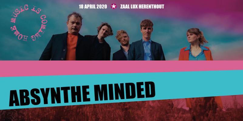 Nieuws afbeelding: Absynthe Minded @ de Lux op 18 april 2020